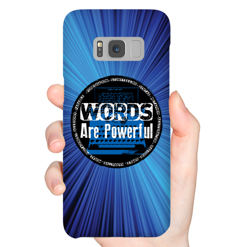 WORDS ARE POWERFUL phone case