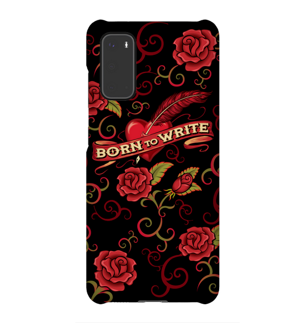 BORN TO WRITE phone case