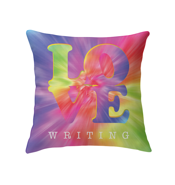 LOVE WRITING throw pillow