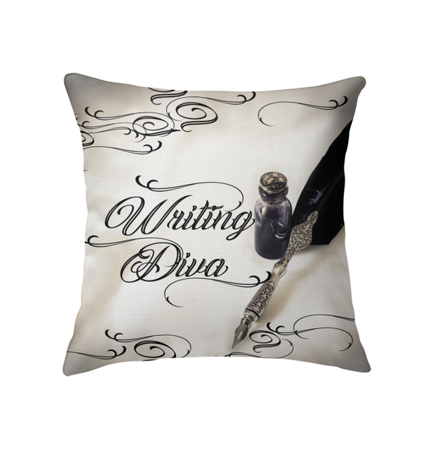 WRITING DIVA throw pillow