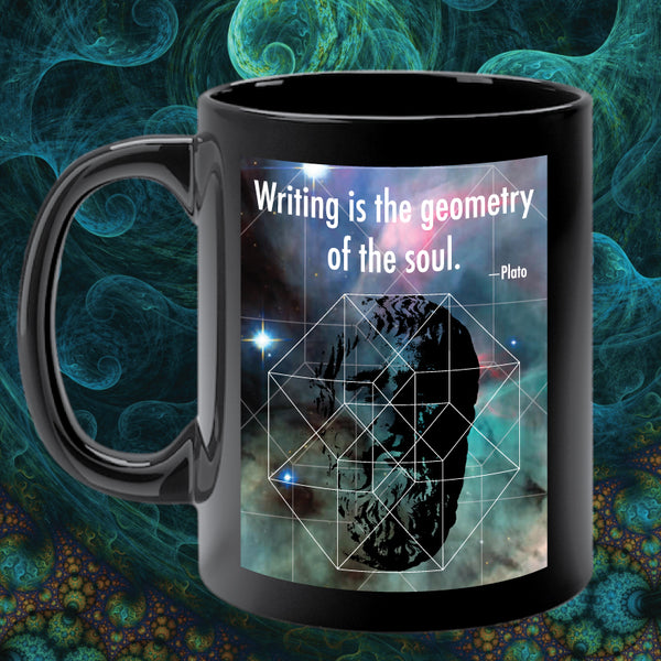 PLATO ON WRITING mug