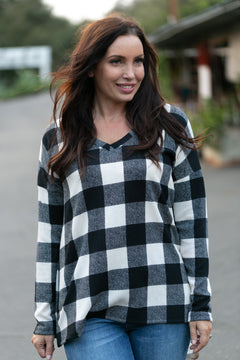 Mad About Plaid Pullover - Ivory