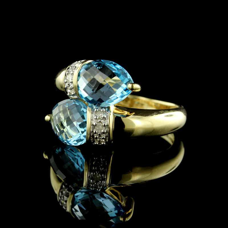 7 Stunning Blue Topaz & Diamond Estate Jewelry Pieces [Just-In]