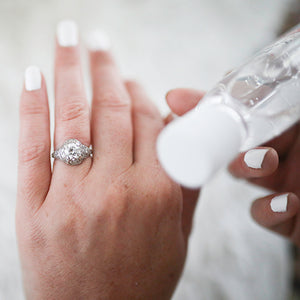 Should You Use Hand Sanitizer with Your Engagement Ring?