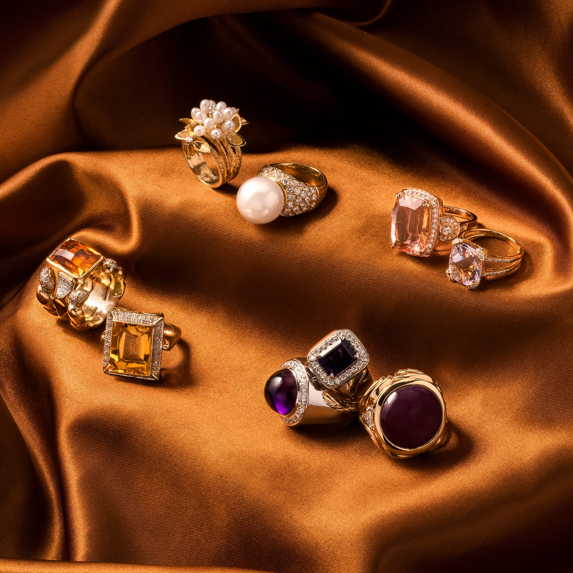 12 Estate Cocktail Rings We're Loving Right Now