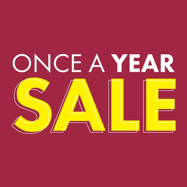 Once a Year Sale 2019