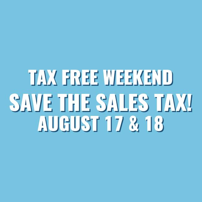 Tax Free Holiday 2019