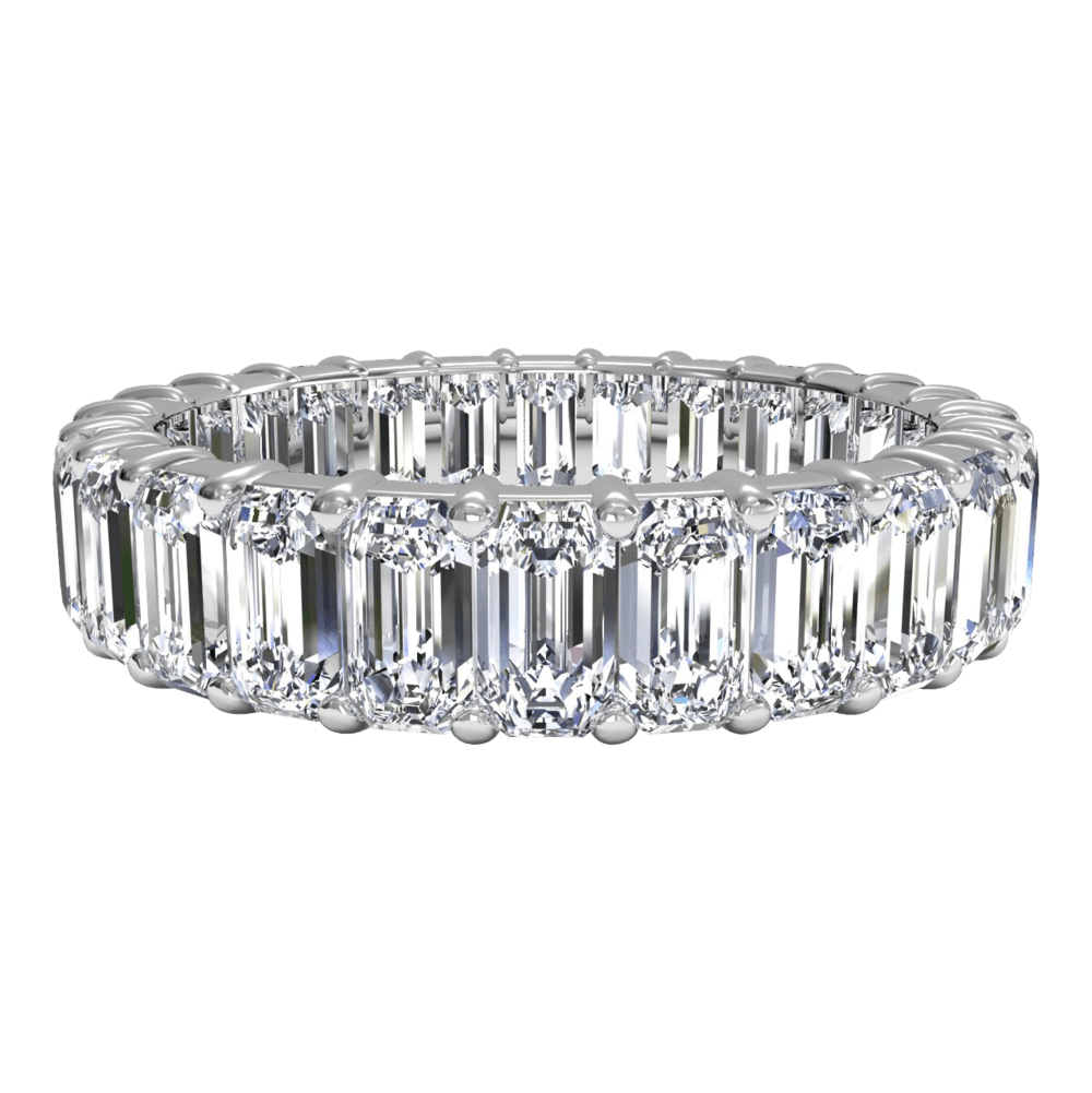 5 Stunning Emerald Cut Eternity Bands