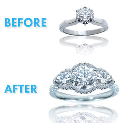 Resetting Diamond Engagement Rings