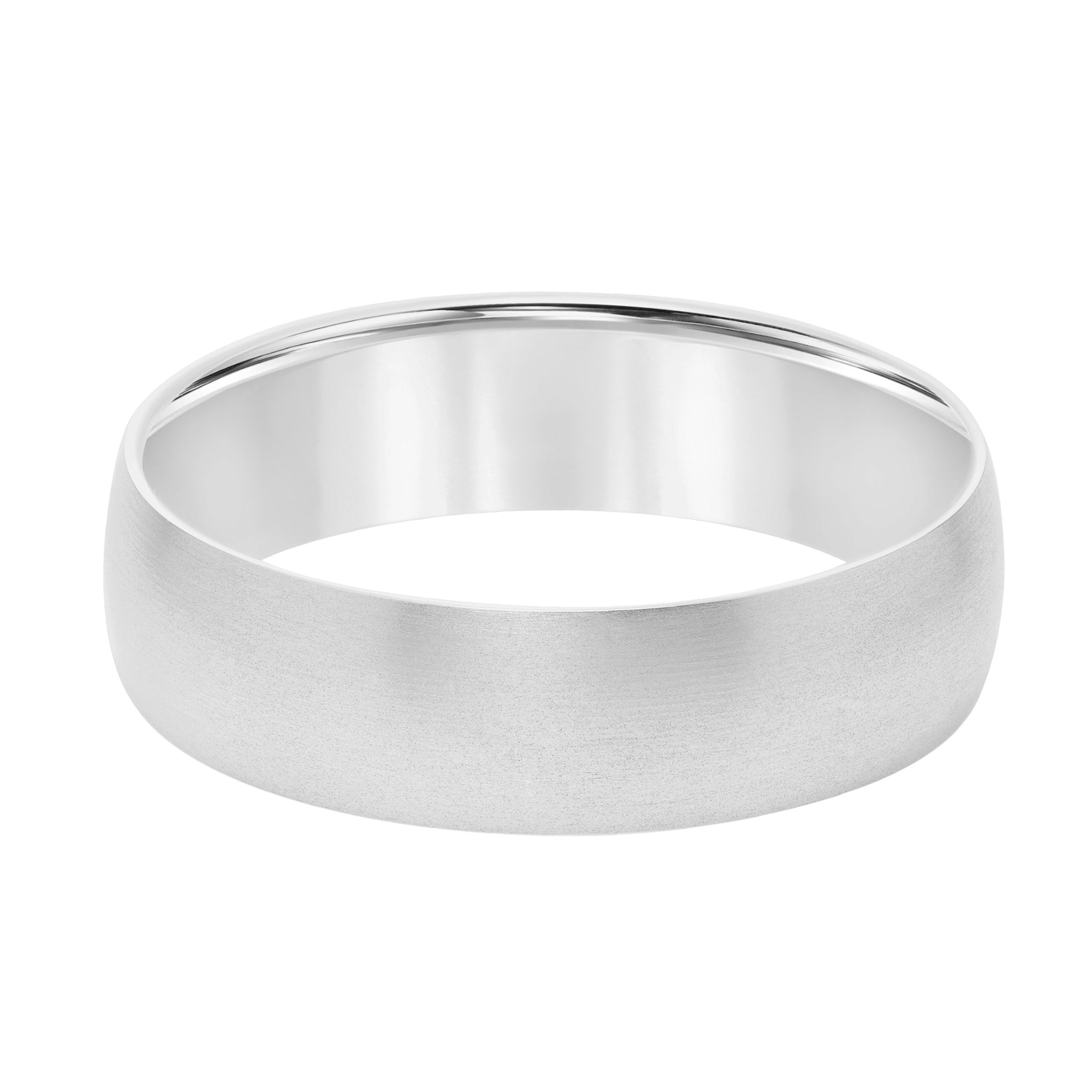 Platinum Brushed Finish Wedding Band