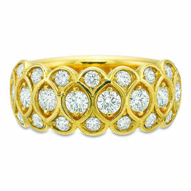 Platinum Pavé Silk Diamond Half Round Band