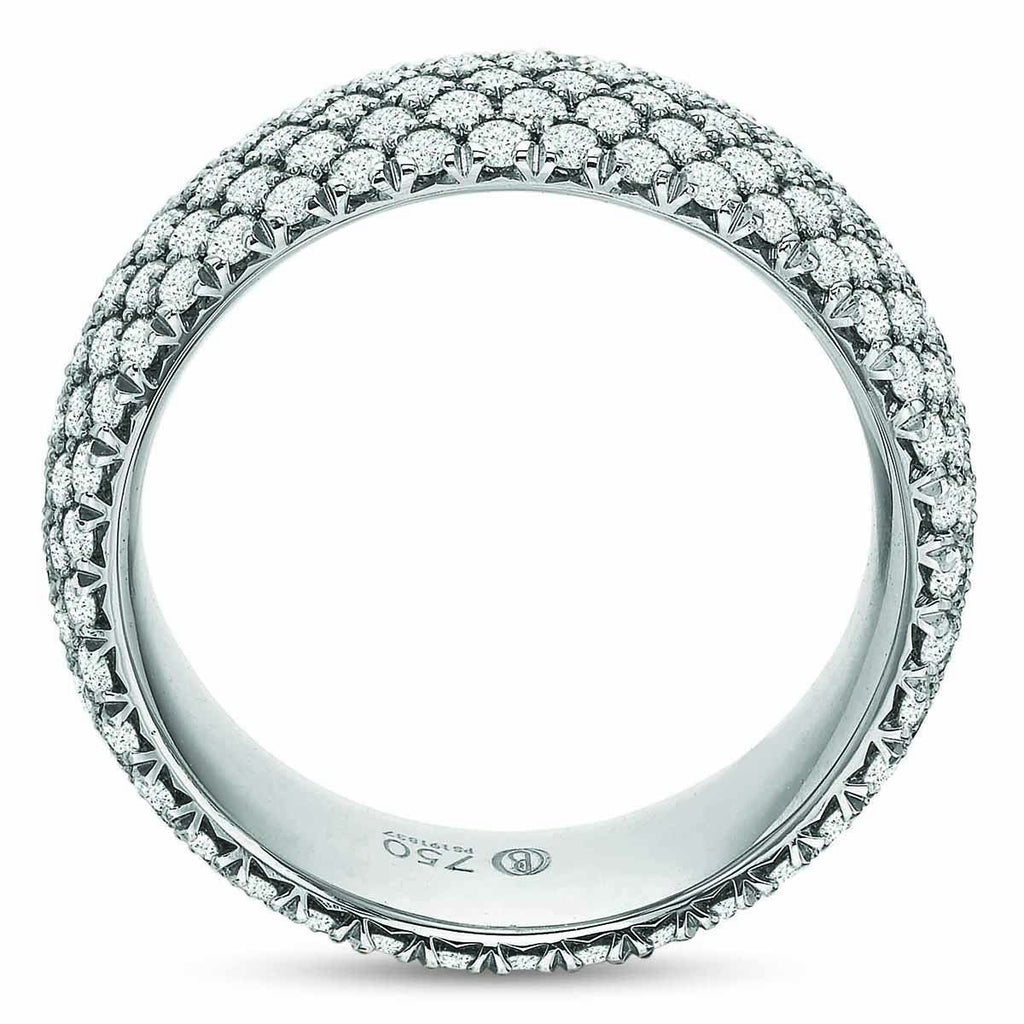 fullxfull eternity il pave products gold pav single band prong bands half diamond in