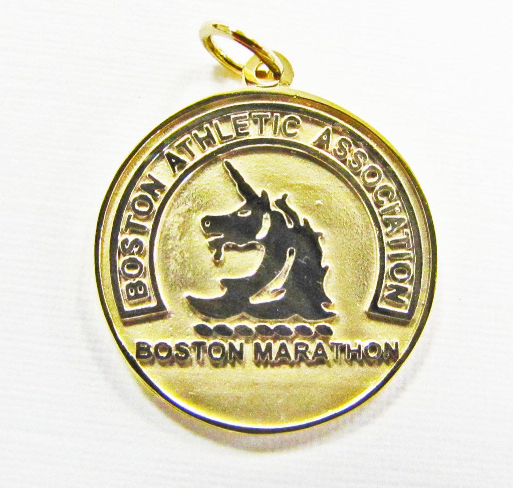 14K Yellow Gold Boston Marathon® Pendant Charm