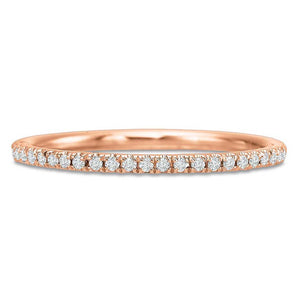 18K Rose Gold Prong Set Diamond Eternity Band