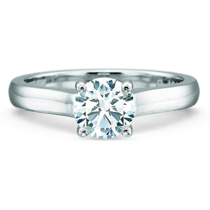 18K White Gold 4-Prong Engagement Ring