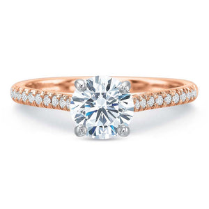 18K Rose Gold Shared Prong Engagement Ring