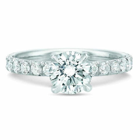 18K White Gold Diamond Semi Mount Engagement Ring