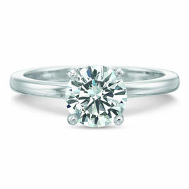 Platinum Four Prong Ten Stone Diamond Engagement Ring