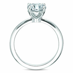 18K White Gold Round 4-Prong Solitaire Engagement Ring