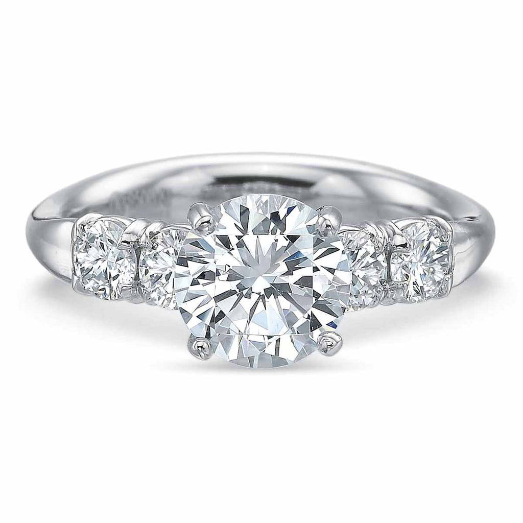 ring from cut stone engagement brilliant rings eternity image diamond bridal platinum