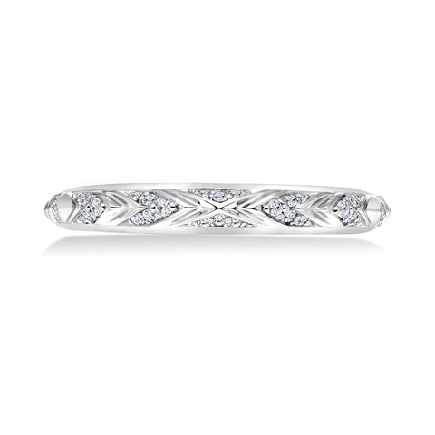 18K White Gold .12 CTW Diamond Accent Band