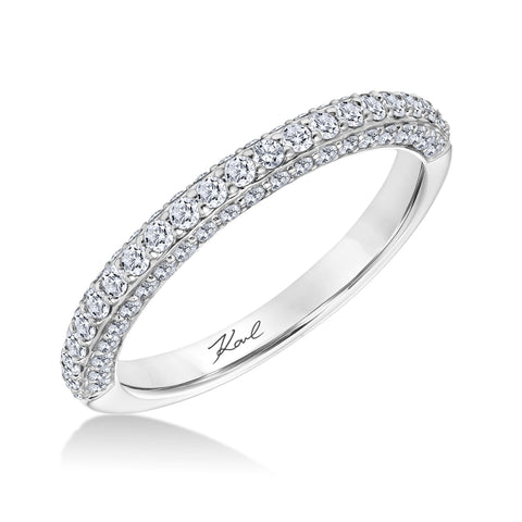 18K White Gold .63 CTW  3 Sided Diamond Band