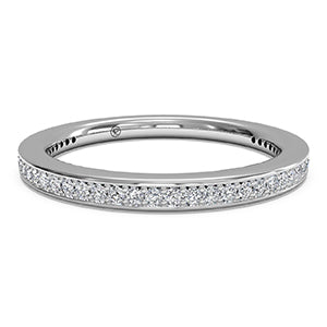 Platinum Endless Love Beadset Micropave Diamond Eternity Band
