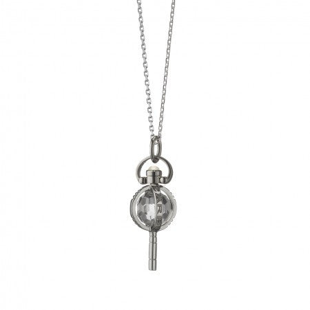 "Sterling Silver Miniature ""Carpe Diem"" Key Necklace"