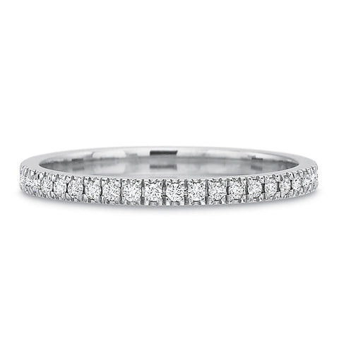 $1,685.00 18K White Gold Shared Prong Diamond Eternity Band