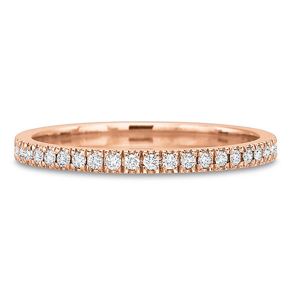 18K Rose Gold Shared Prong Half Diamond Eternity Band