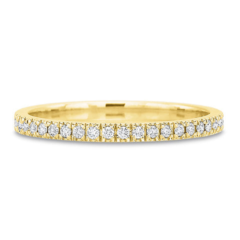 18K White Gold Shared Prong Diamond Eternity Band with Milgrain