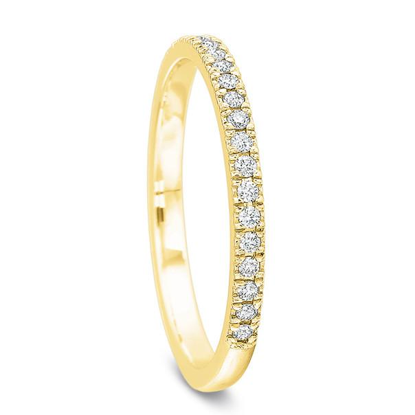 18K Yellow Gold Shared Prong Half Diamond Eternity Band