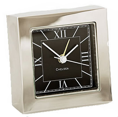 Nickel Square Alarm Clock