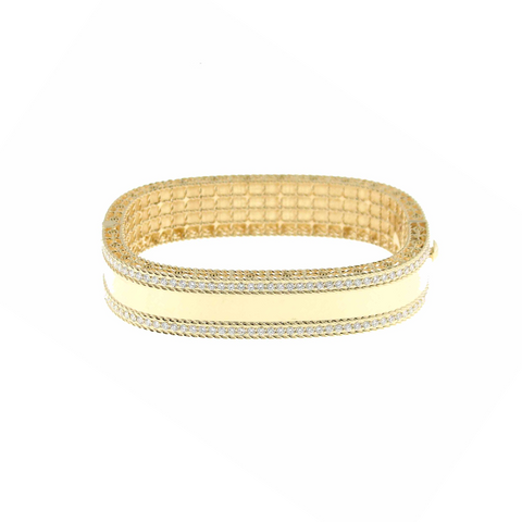Princess 18K Yellow Gold Diamond Bangle