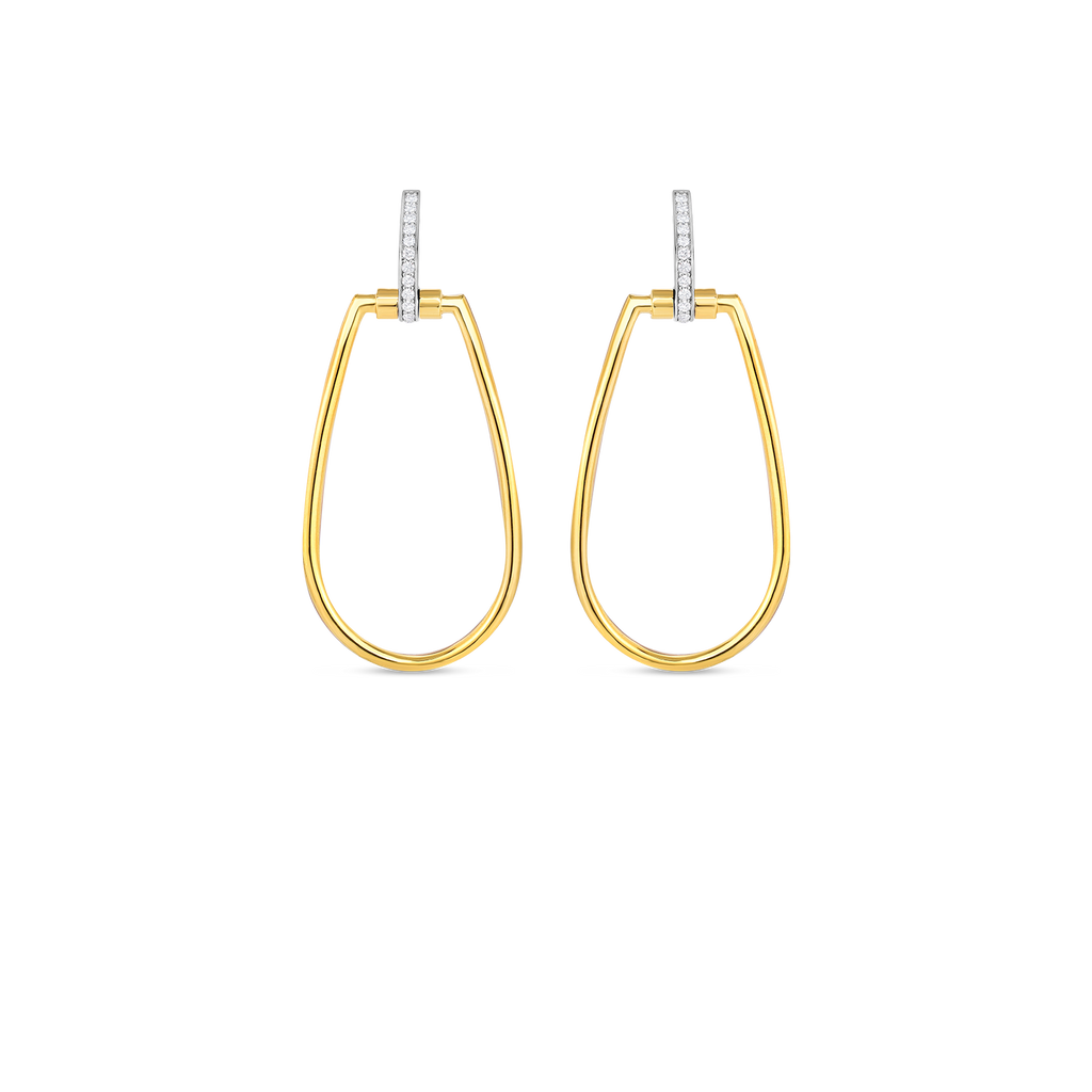 Classica Parisienne 18K Two-Tone Diamond Earrings