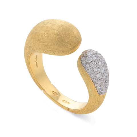 Lucia 18K Yellow Gold and Diamond Open Ring