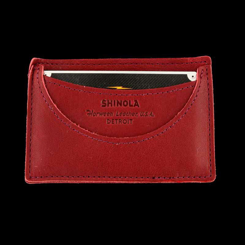 Lollipop Red Leather Card Wallet