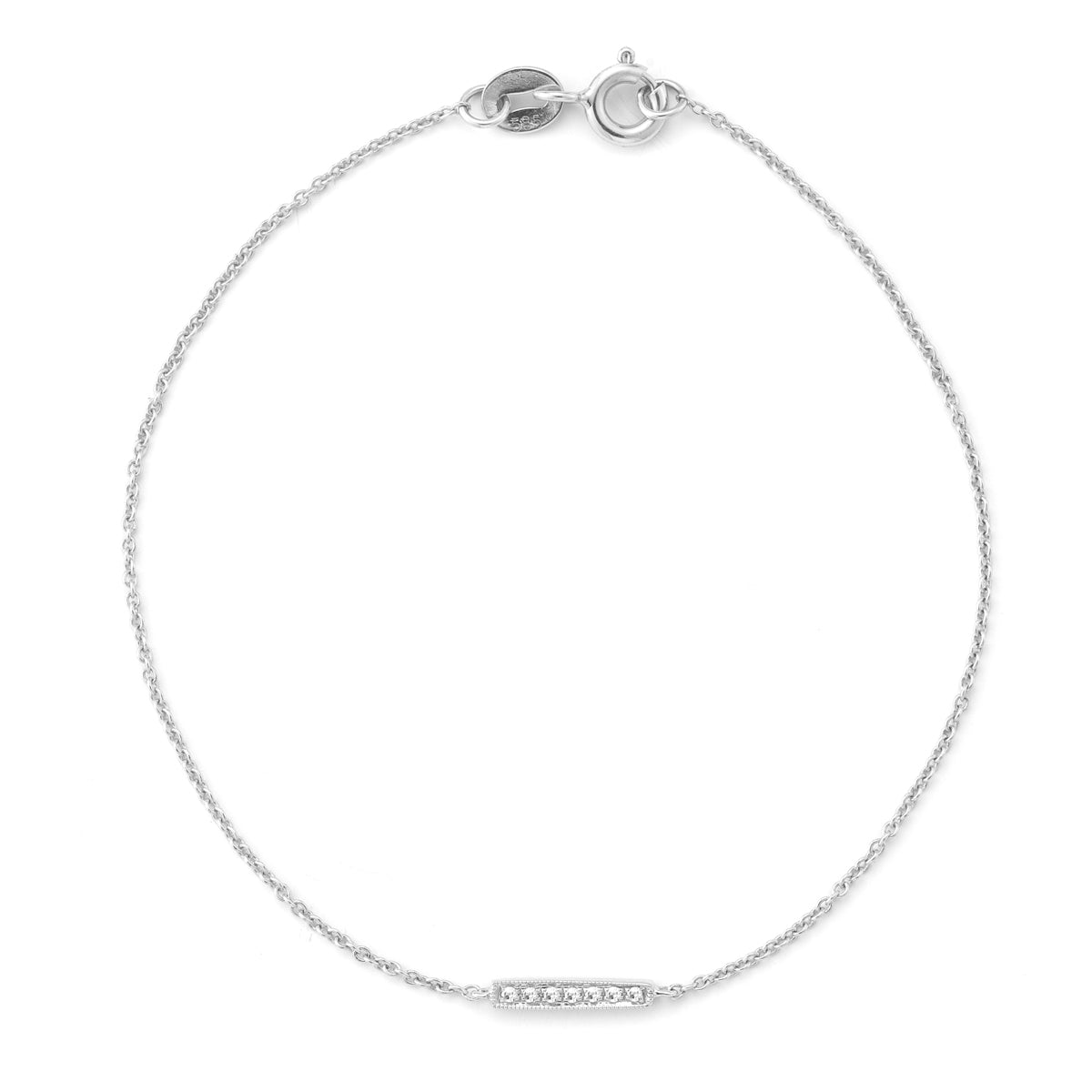 14K White Gold Sylvie Rose Bracelet