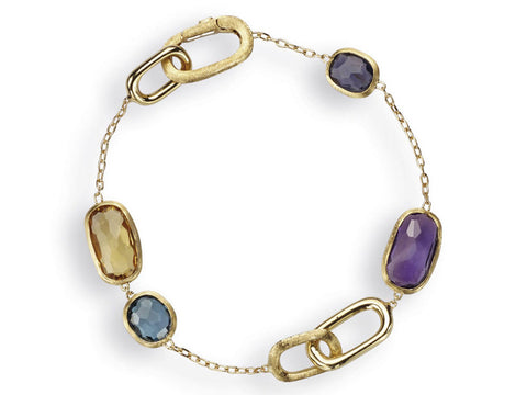 Murano 18K Yellow Gold & Mixed Stone Chain Bracelet