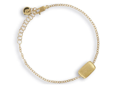Delicati 18K Yellow Gold Rectangle Bead Bracelet