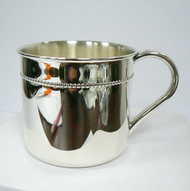 Sterling Silver Beaded Cup