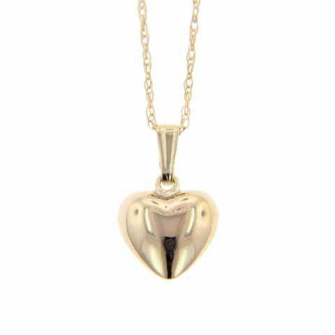 14K Child's Yellow Gold Heart Necklace