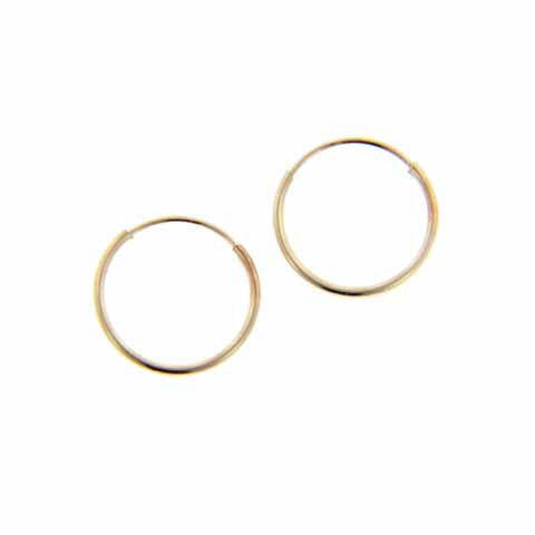 Children's 14K Yellow Gold Hoop Earrings