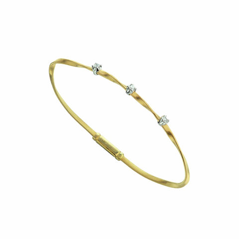Marrakech 18K Yellow Gold & Diamond Stackable Bangle