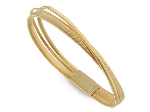 Masai 18K Yellow Gold Three Row Crossover Bracelet