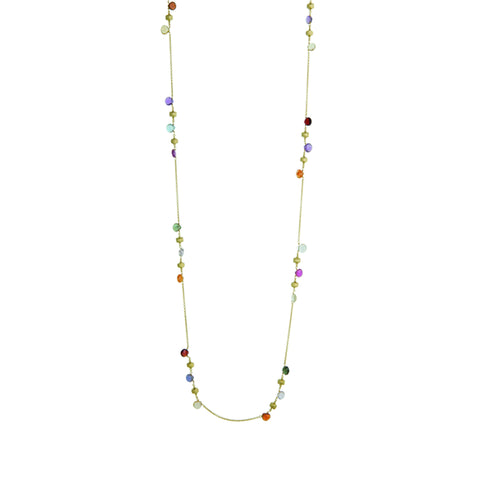 Paradise 18K Yellow Gold & Clustered Mixed Stone Long Necklace