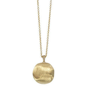 Africa 18K Hand Engraved Yellow Gold Necklace