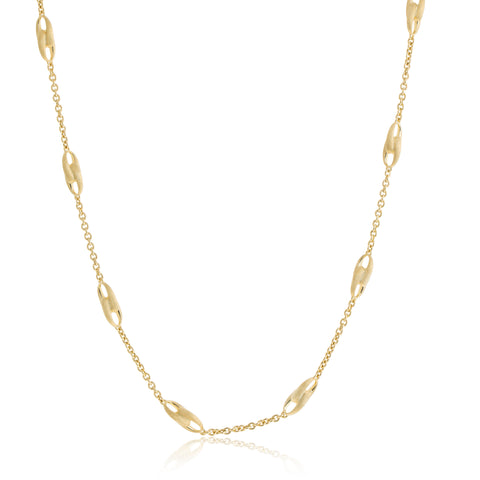Lucia 18K Yellow Gold Station Link Necklace