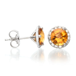 Diamond Studs in 14K White Gold 1CTW