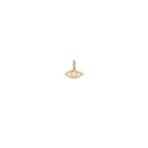 14K Yellow Gold Evil Eye Charm